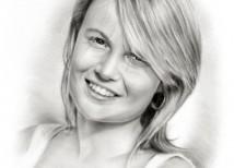 schets van foto | mooie vrouw