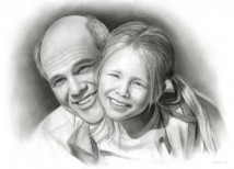 schets van foto | Vader en dochter