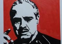 The Godfather schilderij laten maken van foto