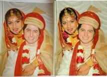 mooi geklede man en vrouw schilderij laten maken van foto